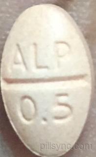 OVAL ORANGE ALP 0 5 APO alprazolam  tablet