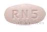 rizatriptan benzoate tablet  - rn5 OVAL PINK image