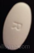 ciprofloxacin (as ciprofloxacin hydrochloride) 500 mg oral tablet - r 127 OVAL WHITE image
