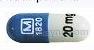 30/70 release 24 hr methylphenidate hydrochloride 30 mg extended release oral capsule - m 1820 20 mg CAPSULE BLUE image