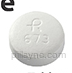 ROUND WHITE R 673 Spironolactone 100 MG Oral Tablet