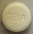 ROUND WHITE Teva 54 buspirone hydrochloride tablet